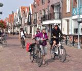 Radfahrer in Volendam