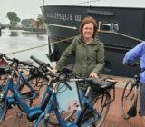 Radfahrer in Zaandam