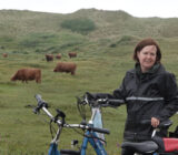 Radfahrer in Nordholland