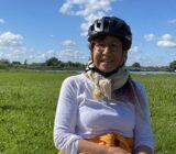 Gast während der Radtour