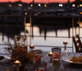 Abendessen an Deck