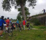 Radfahrer bei dem Bunker