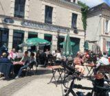 Frankreich Champagne Hautvillers Straßencafe