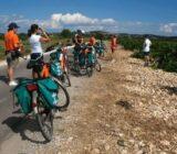 Radfahrer während ihrer Pause