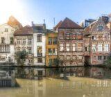 Gent Häuser in Wassernähe