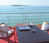 Italy Venice Mantua aboard relaxing