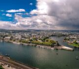 Koblenz Blick von der Ehrenbreitstein-Festung