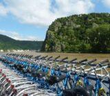Fahrräder an Deck