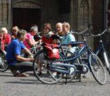 Utrecht Radfahrer nehmen eine Pause