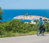 Kroatien Pakostan Radfahrer Ivan Duran