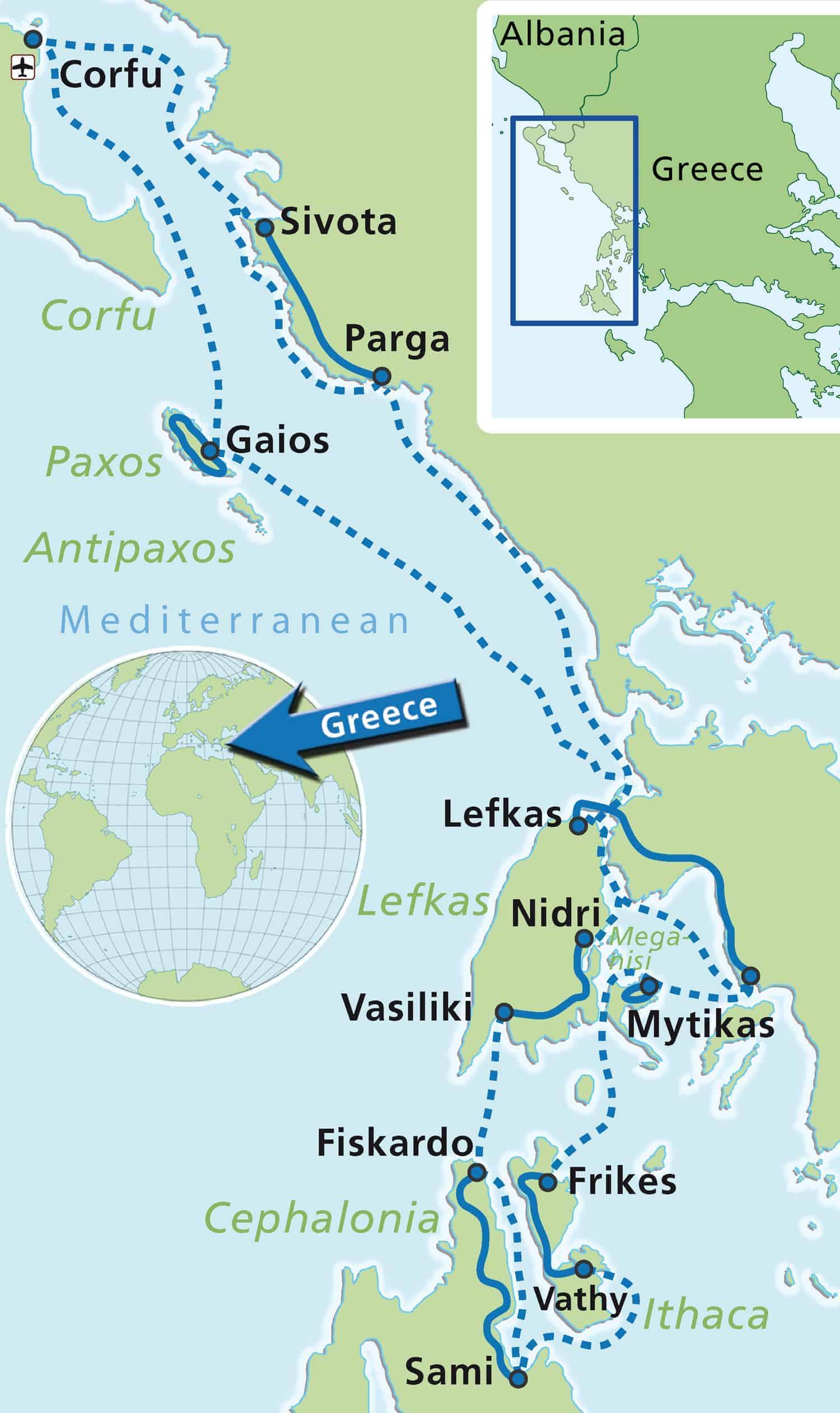 Griechenland: Ionische Inseln ab/bis Korfu | Boat Bike Tours