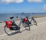 Fahrräder an der Straße