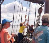 Gäste auf dem Schiff