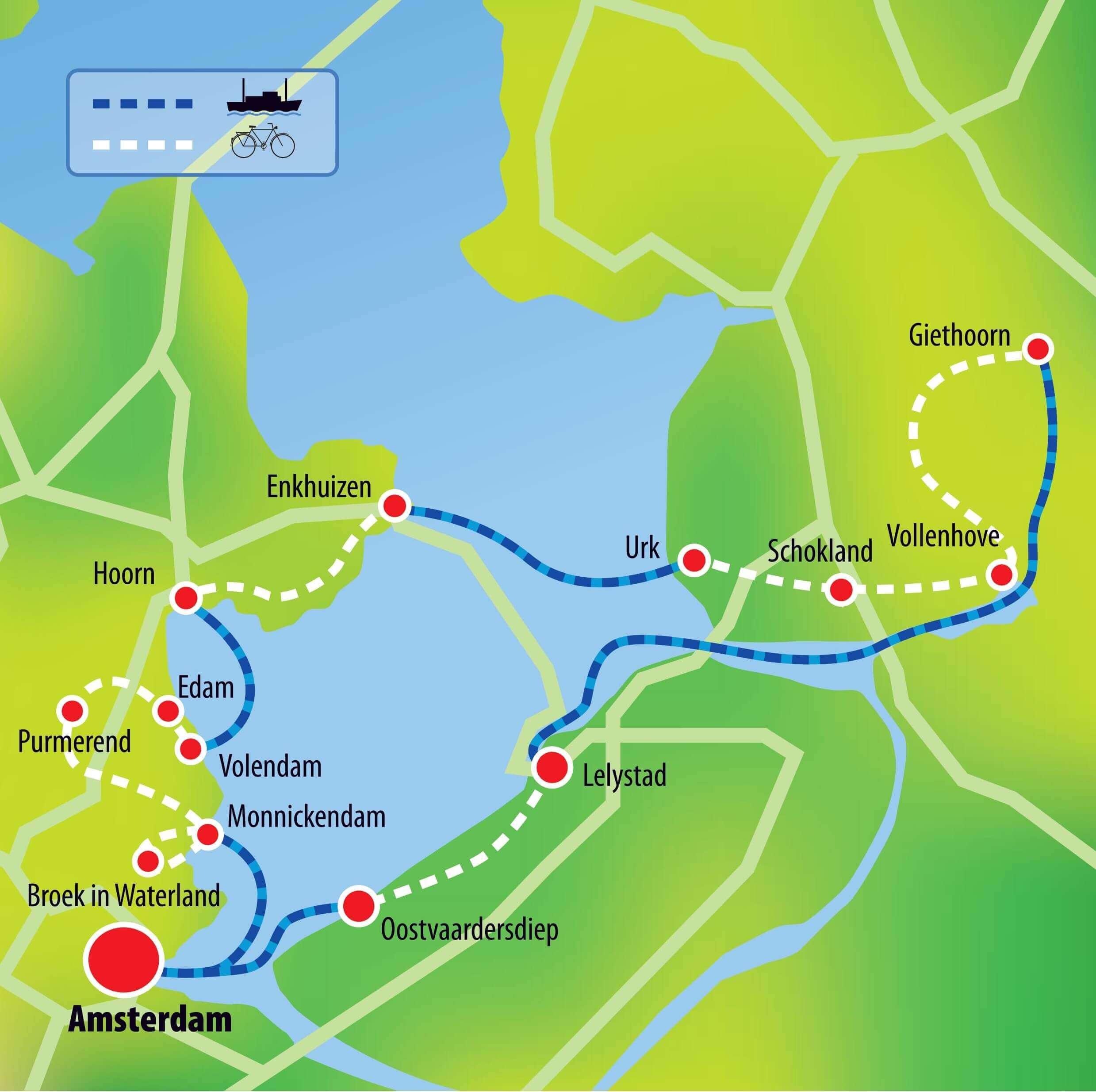 Niederlande Ijsselmeer Karte.Niederlande Sail Bike Ijsselmeer