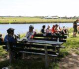 Radfahrer machen eine Pause