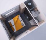 De Nassau - künstlerischer Eindruck Sup 2-Bettkab.
