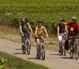 Frankreich Burgunde Radfahrer