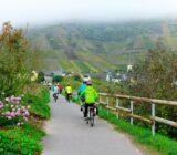 Gäste beim Radfahren