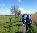 Gäste während der Radtour